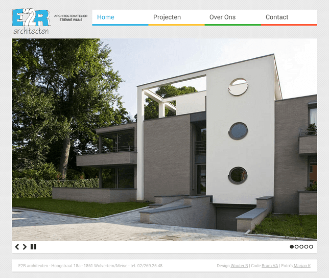 E2R Architecten website